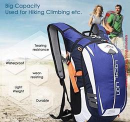 18L Waterproof Hiking Backpack for men women Generous Ultralight Outdoor Bicycle Cycling Bike Backpacks Travel Mountain Bag