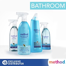 Exclusive Singapore Distributor / Method Bathroom Cleaners / Dissolves Scum and Stains / Made in USA