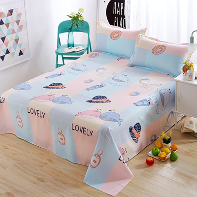 Nordic Cartoon Whale/hat/cloud/moon/flower Bed Sheets Home Decor Bedding  Soft Polyester Flat Sheet K