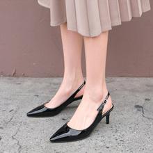 [SAPPUN官方旗艦店][2019春季新品] Roils後絆帶細高跟鞋(4cm / 6cm / 8cm)