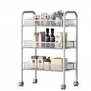 3 Tier Trolley Multi-function Metal Basket Cart Bathroom Toilet Toiletries Rack Kitchen Storage Rack