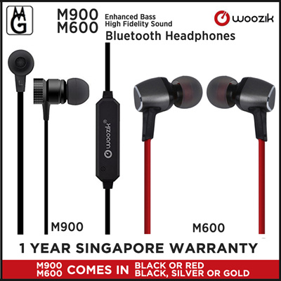 [US$20 36]Woozik M600 High Fidelity Sound/ M900 Enhanced Bass Bluetooth  Headphones Local Warranty