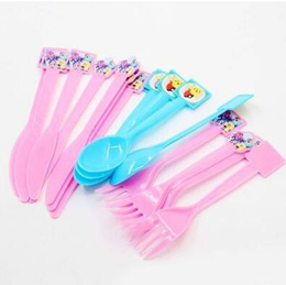 20pcs Pikachu pony Knife and fork spoon Party disposable tableware
