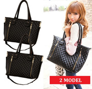 [NEW MODEL] QUINCY LABEL QUILT TOTE BAG / 2 MODELS / IMPORT TAS WANITA / tas wanita - tas jinjing - tas bahu