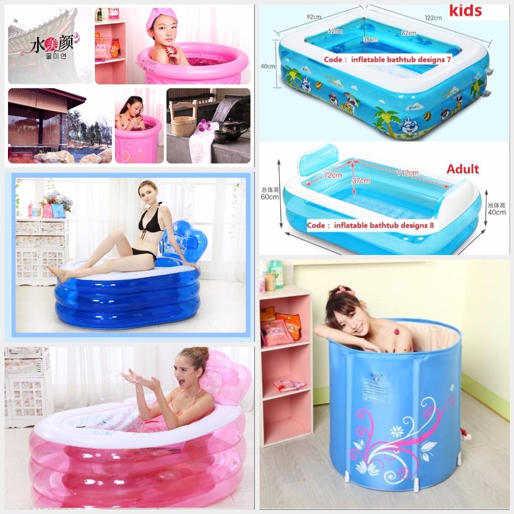 Qoo10 - Inflatable adult Bath tub swimming tub Foldable Bath ...