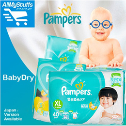 【PAMPERS】Baby-Dry Pants/Tape Diapers ★Carton Sale★ Japan Version★