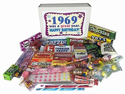 Woodstock Candy 1969 Retro Nostalgic 48th Birthday Gift Box For A 48 Year