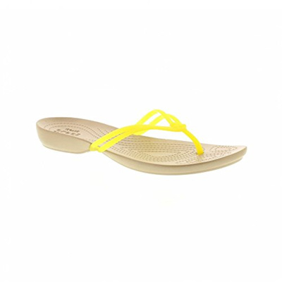 Crocs Isabella Flip W 41/42 EU, Lemon/Gold