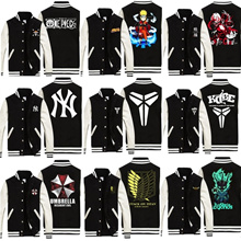 Animated Jacket / Baseball Jacket / Superhero / One Piece / Naruto / Iron man / Avengers / Long Sleeve Jacket