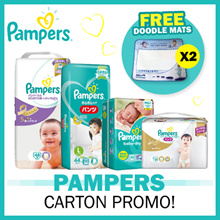 [Pampers] FREE SHIPPING + FREE 2 Doodle Mats! Baby Dry Diapers Pants / Diapers / Premium Care Diapers / Silk Pants