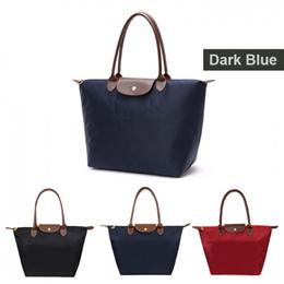 Trendy Fashion Large Travel Tote Bag Long Handle Handbag Champ Nylon Foldable
