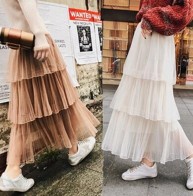 c7992e4d420 Lace skirt dress summer 2018 new homemade lace skirts petticoat dresses  skirt cut mesh transpa
