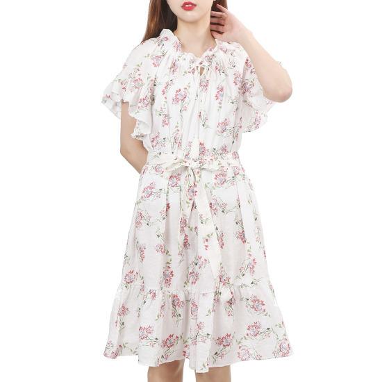 ラブLAPブーケopsAH4WO747 シフォン/レース/フリル/ 韓国ファッション