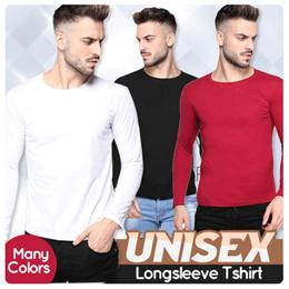 VERTICE CLOTHING - Kaos Polos PRIA Lengan Panjang - T-Shirt Cowok Unisex Premium - SG
