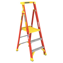 Werner Fibreglass Podium Platform Ladder PD6203 / PD6204 / PD6206 / PD6208 (3 Steps to 8 Steps Ladder)