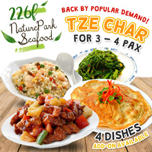 [NEW!] 4 DISH TZE CHAR SPECIAL PROMO 3~4 PAX (BACK BY POPULAR DEMAND!)