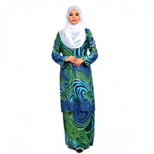 Cotton &amp amp  Silk - Baju Kurung Pahang _ Aina Batik Jacquard - 1304 - Kurung Pahang Batik Aina -