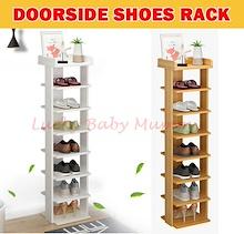 【Doorway Shoe Rack】Minimalist Wooden Shoe Shelf/ 6/7 Tier Shoe Rack