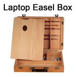 Laptop Easel Box for Oil Painting/Wooden Box for outdoor drawing/Wooden Storage Box