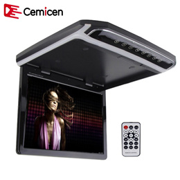 Cemicen 10.2 Inch Car Roof Mount Monitor Flip Down TFT LCD Player Support 1080P FM HDMI Port SD Touc