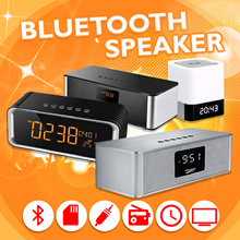 Musky Bluetooth Speaker Portable Mini Wireless Sound Bar HI-FI FM Radio SD Card LIght Sensor Stereo