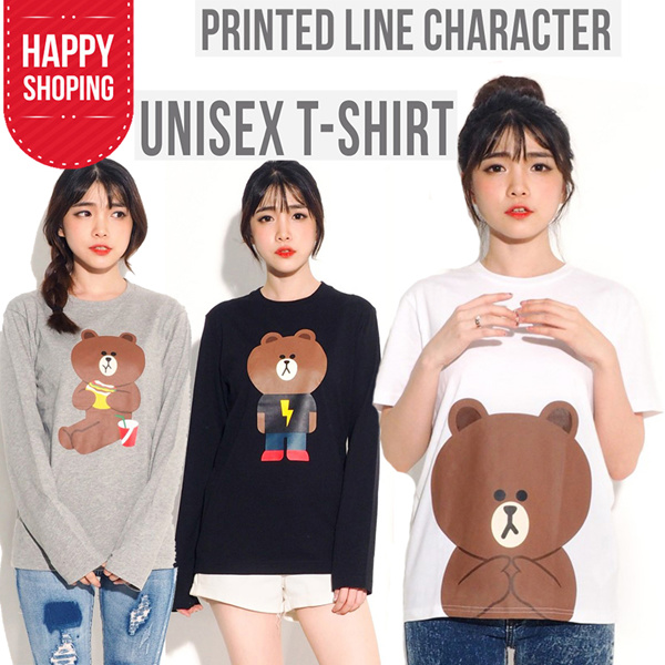 FLAT PRICE!! Line Brown Women/Man Unisex Tees Deals for only Rp41.000 instead of Rp41.000