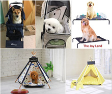Canopy/Teepee Tent Bed Foldable/Folding Washable Pet Dog Cat Stroller/Carrier /Trolley/Elevated Bed