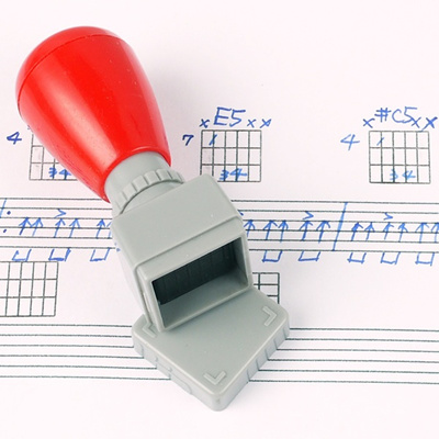 Qoo10 Guitar Ukulele Chord Stamp Player Diy Mini Rubber Stamp