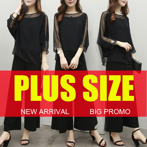 ?Jun 23h update?2017 NEW PLUS SIZE FASHION LADY DRESS OL work dress SLIM DRESS top chiffon short Deals for only RM55 instead of RM55
