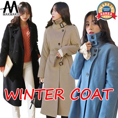 d1a2390422 Qoo10 - 【KOREA NO.1 MAKMAKS】WINTER COAT Basic/Simple coat/Double ...