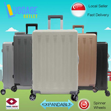 ★Ready stocks!★ Hardcase Polycarbonate Expandable Luggage Trolley Case Suitcase with TSA Lock 360