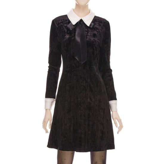 フォーカス晋州カラベルベットワンピースSFGW1OP4440 面ワンピース/ 韓国ファッション