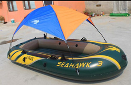 Rubber boat kayak inflatable boat awning awning fishing tent shade sunscreen rain