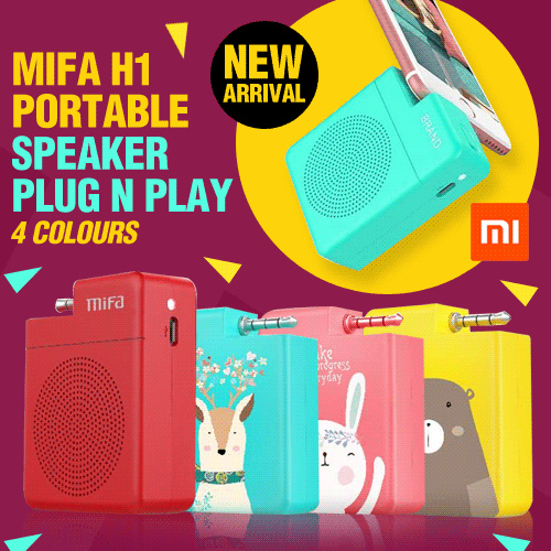 Xiaomi MiFa H1 Portable Speaker Stereo Mini 3.5mm Audio Plug n Play Deals for only Rp150.000 instead of Rp150.000