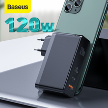 Baseus 120W GaN SiC USB C Charger Quick Charge 4.0 3.0 QC Type C PD Fast USB Charger