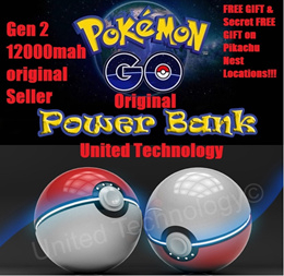 [Authentic Local Seller]★★★Pokemon Go Gen 2 Ultimate Pro Version★Pikachu★Powerbank★Poke Ball ★12000mah/Power bank★Portable Charger Battery★iPhone★Samsung★HTC★Sony★Xiaomi★★For All Pokémon Hunter!