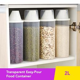 ★ Transparent Easy-Pour Food Container ★ Organized See-Through Grain Storage • Fridge Storage