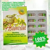 Asam Ulin Herbal for Relieve Gout Rheumatic Cholesterol Blood Clots Joint and Back Pain