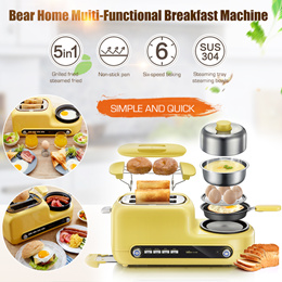 Bear Home Breakfast Machine Sandwich Machine Muiti-Functional Toaster Bread Baking Machine Egg Cooke