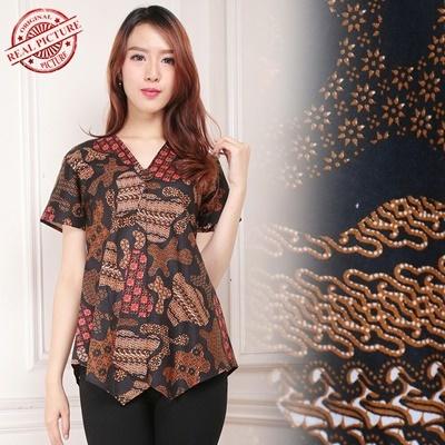 top blouse marta batik wanita