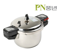 PN New-Vienna Stainless Pressure Cooker 4~10persons /5 Safety Locks //Made in Korea/5 Safety Locks