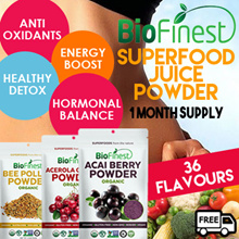 ★36 New Flavors ★ Superfood Juice Powder★100% Pure Antioxidant Berries/ Fruits ★ Weight Loss Detox