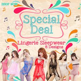 [Special Deal] [No Option Price] Lingerie Sleepwear 8 Designs