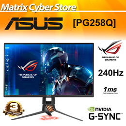"ASUS ROG Swift PG258Q 24.5"" Full HD 1080p 1ms 240Hz DP HDMI Eye Care G-SYNC eSports [3 Years Onsite]"