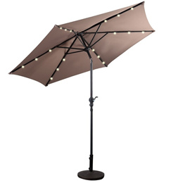 9FT Patio Solar Umbrella LED Outdoor (Without Umbrella Base)
