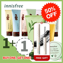 ★innisfree 1+1 Event★ [innisfree] Cleansing Foam, Volcanic Color Clay Mask, No-Sebum Mineral Powder