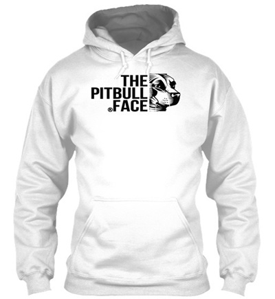 The Pit Bull Pitbull Dog Face Gildan Hoodie Sweatshirt