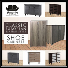 Classic European and Asian Shoe Cabinets Designs | 5 Models | Free Installation