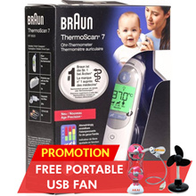 BRAUN THERMOSCAN 7 IRT6520 THERMOMETER/ BPA FREE/ COLOUR CODED DISPLAY/ FREE 1 YEAR WARRANTY