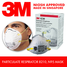 3M 20pcs 8210 N95 Mask  / NIOSH Approved / Made In SG / Korea 95% Filter Efficiency